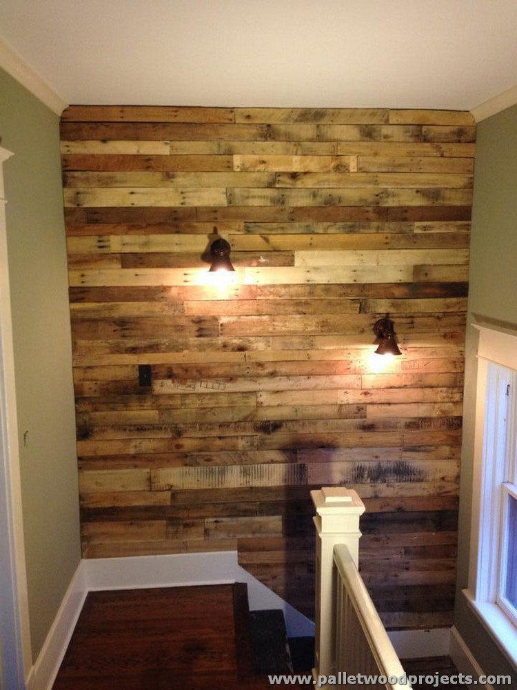 Rustic Pallet Wall Ideas