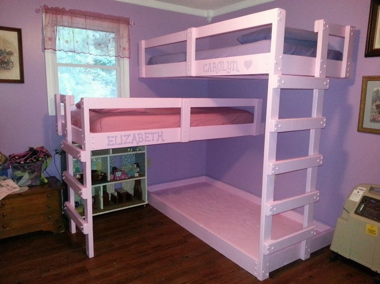 ... here: Home / Pallet Furniture / Pallet Bed / Pallet Bunk Bed Projects