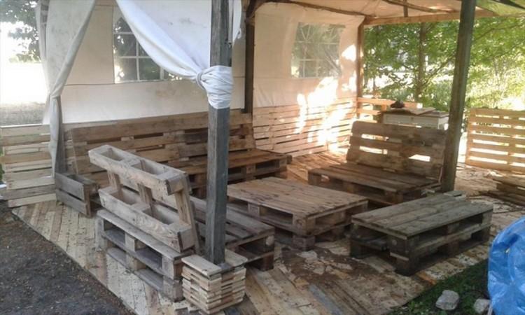 Vintage Pallet Wooden Deck