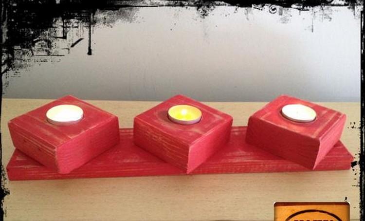 Wooden Pallet Candle Holder