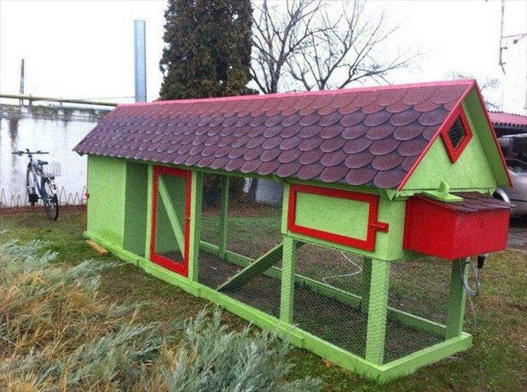Wooden Pallet Chicken Coop