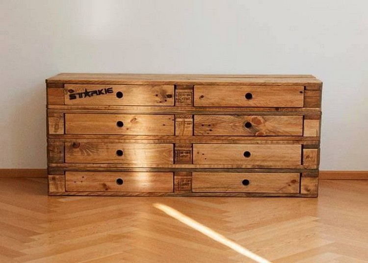 Wood Table Dresser ~ Wooden pallet dressers with drawers wood projects