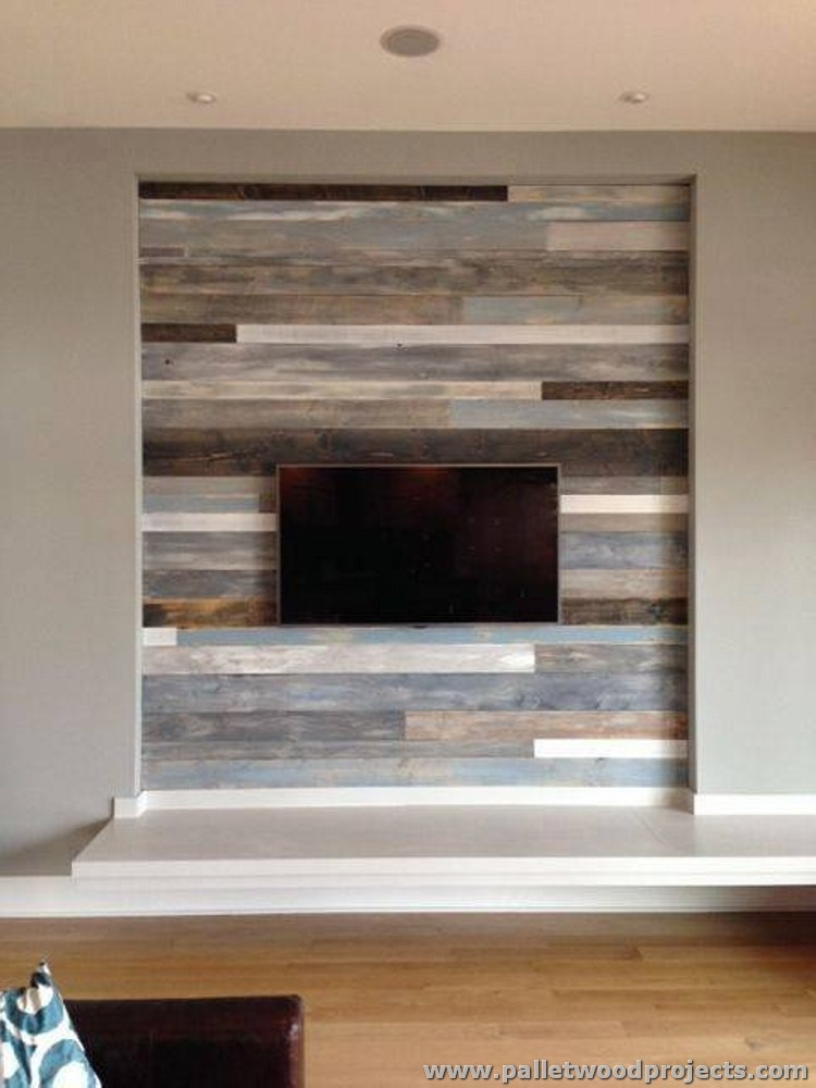 Accent wall made out of pallets pallet wood projects Reclaimed wood wall art for sale
