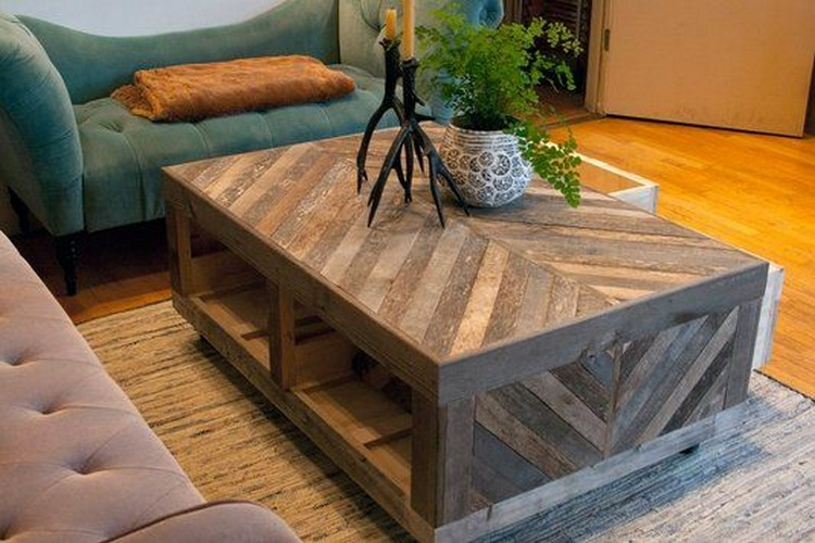 chevron pallet coffee tables | pallet wood projects
