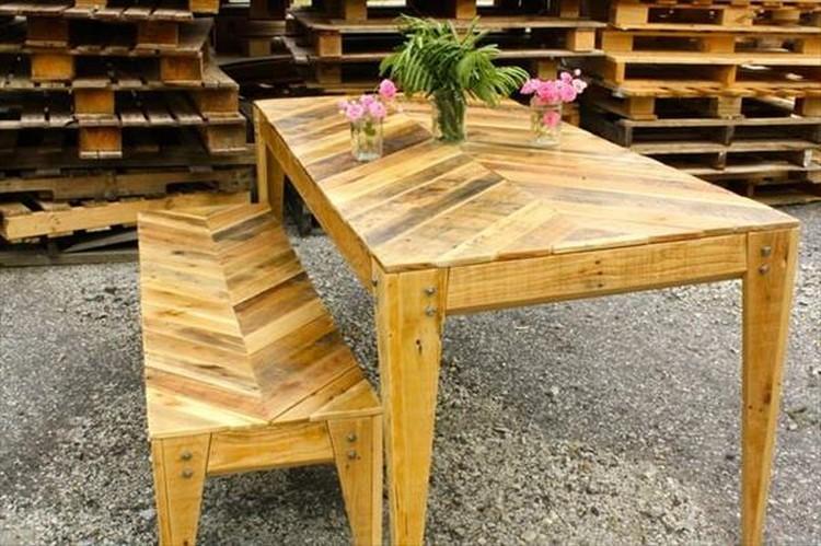 Chevron Style Pallet Coffee Table