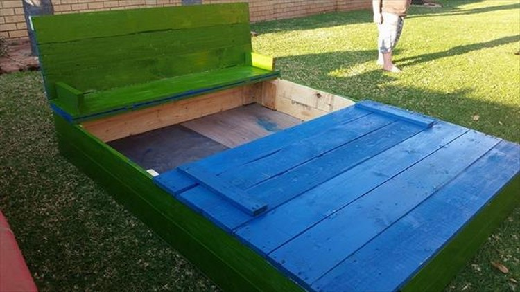 Colorful Pallet Sandbox