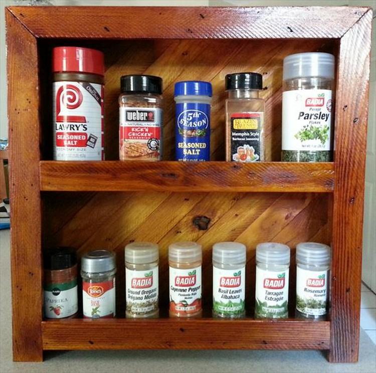 Handmade Pallet Spice Rack