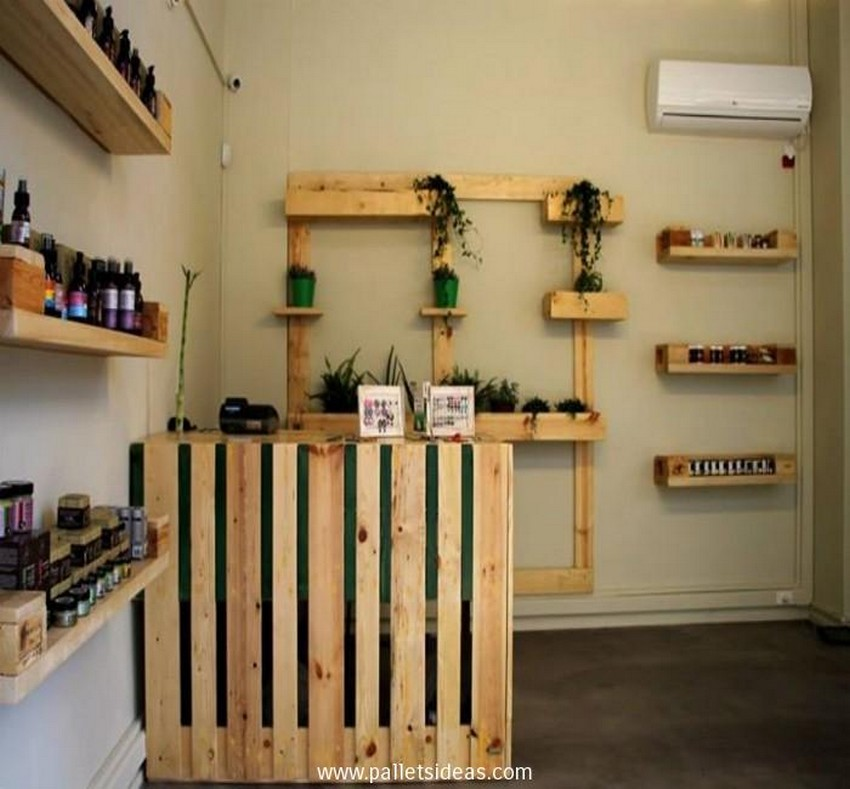 Herbal Cosmetics Store Pallet Furniture