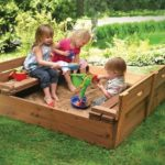Kids Pallet Sandbox with Cover