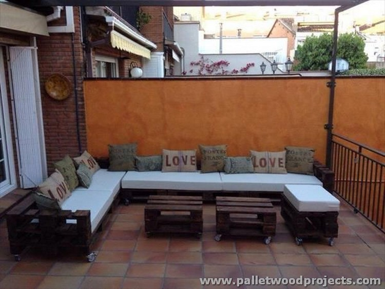 Pallet Patio Sectional Sofa Plans Pallet Wood Projects
