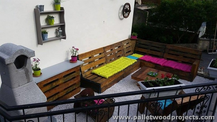 Pallet Balcony Decor Furniture Set