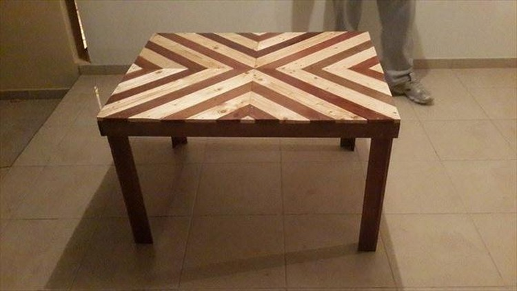 Pallet Chevron Coffee Table Ideas