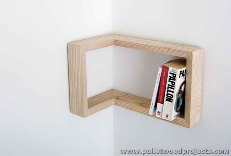 Pallet Corner Bookshelf