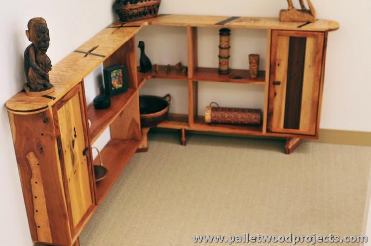Pallet Corner Shelf Plans