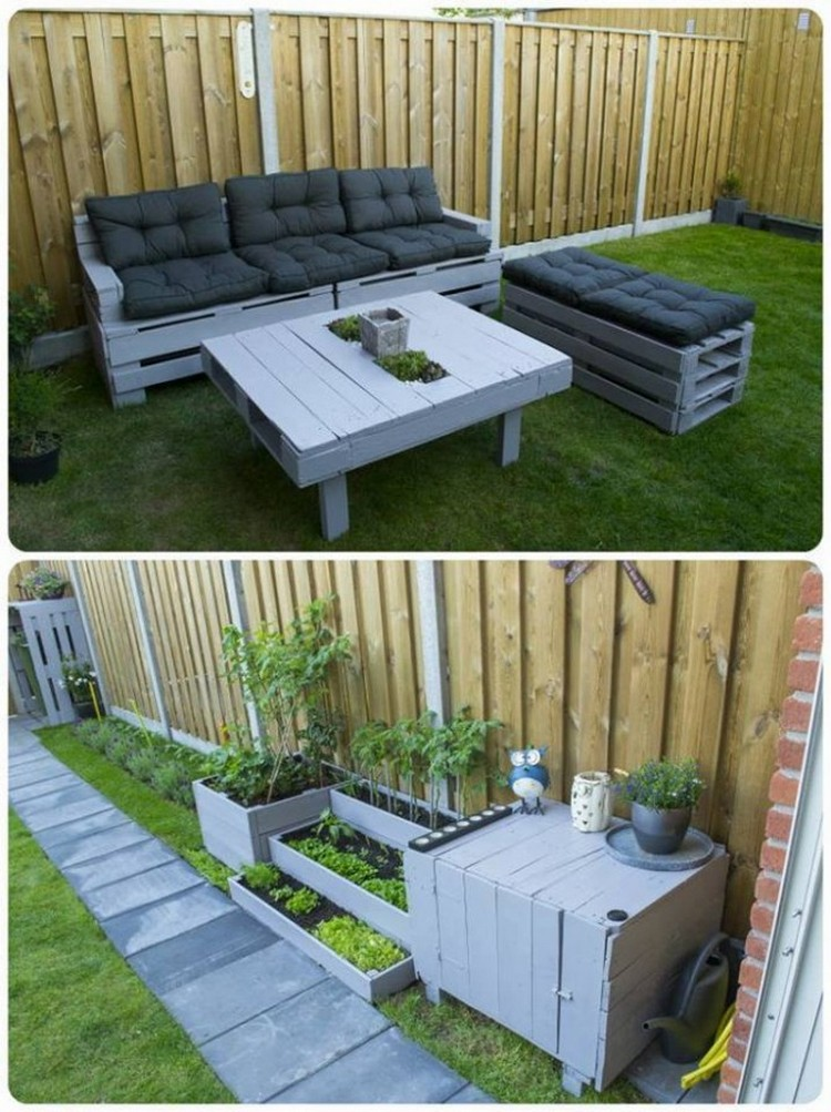 Pallet furniture ideas pallet wood projects for Outdoor deck furniture ideas