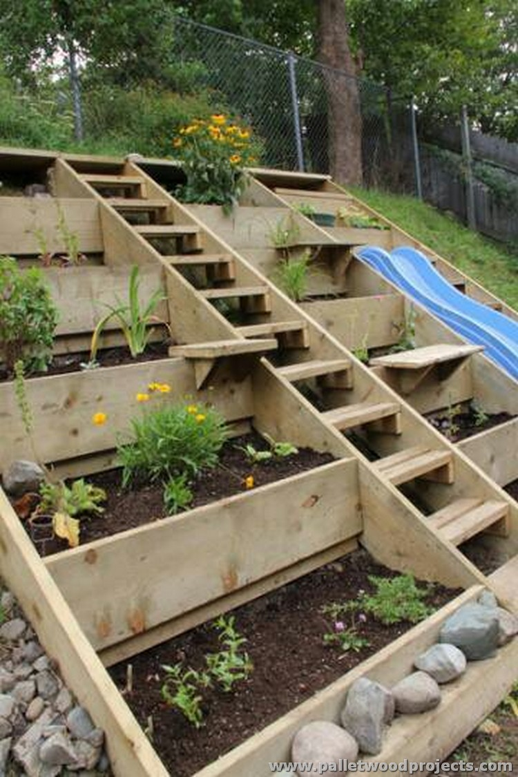 pallet garden projects - Garden Ideas Using Pallets