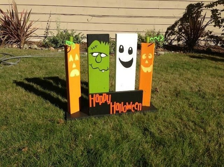 Pallet Halloween Yard Decoration Ideas | Pallet Wood Projects