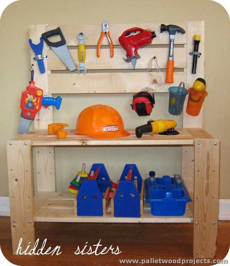Pallet Kids Tool Bench