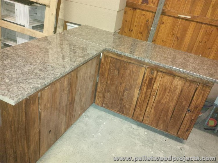 Pallet Kitchen Cabinet Storage