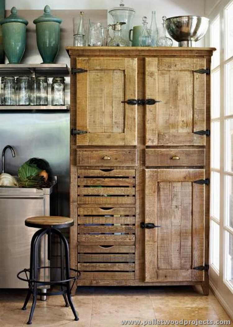 Cupboards Made From Pallets Pallet Wood Kitchen Installations Pallet Wood Projects