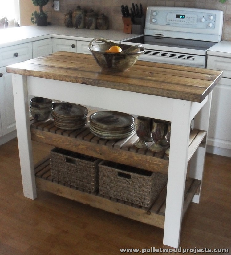 Pallet Kitchen Island Table Ideas