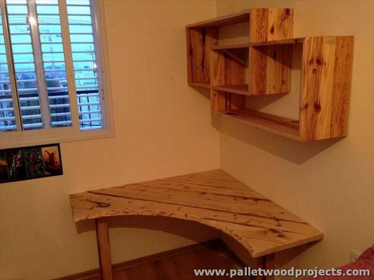 Pallet Made Corner Shelf