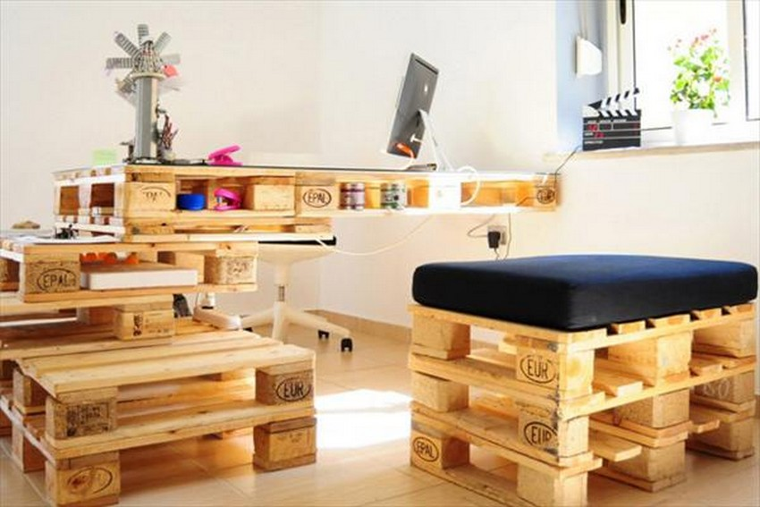 Pallet Made Shop Furniture