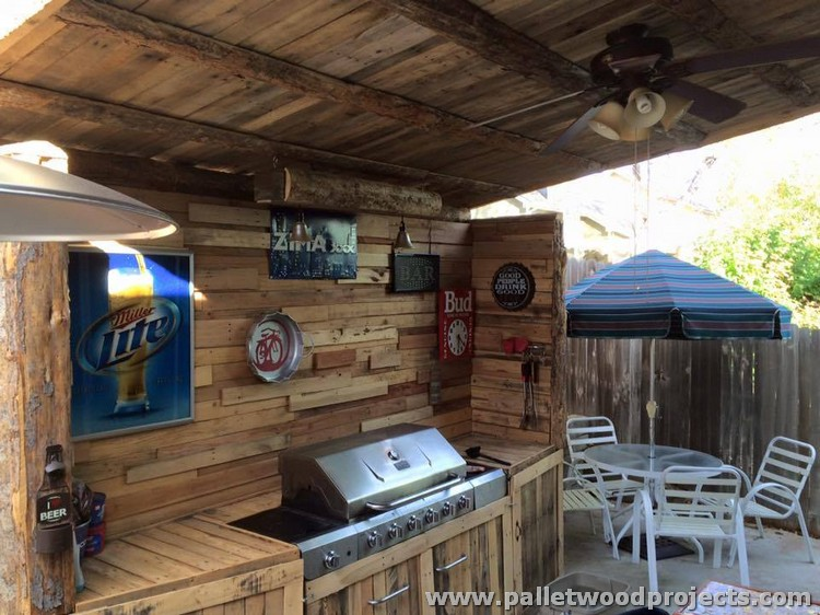 Wooden Kitchen Projects ~ Pallet wood kitchen installations projects