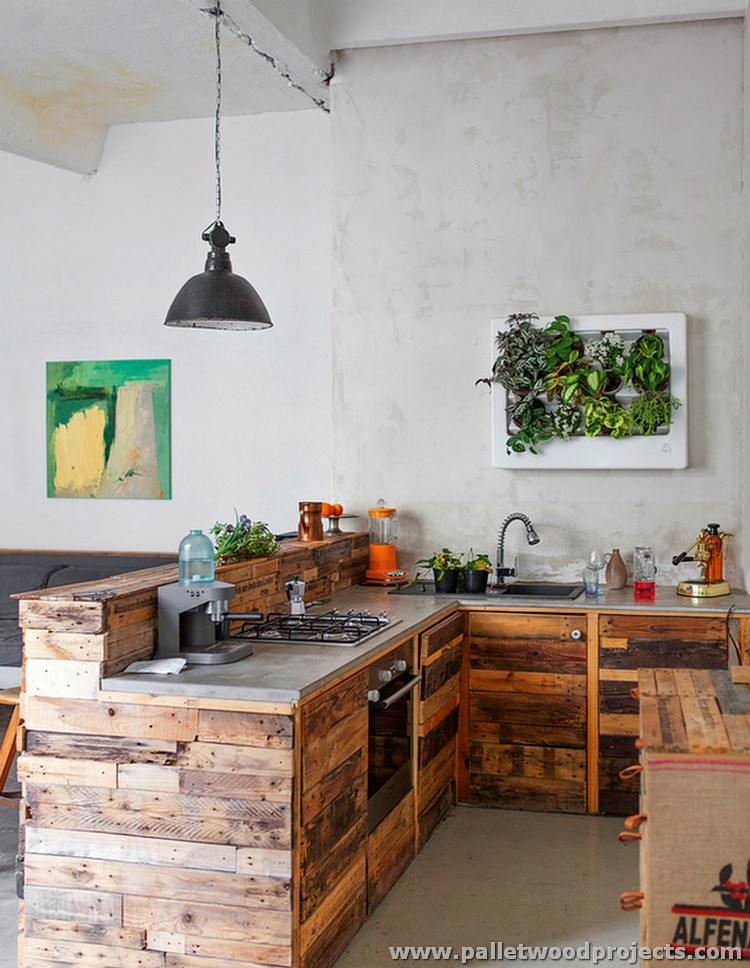 Pallet wood kitchen installations pallet wood projects for Kitchen kitchen