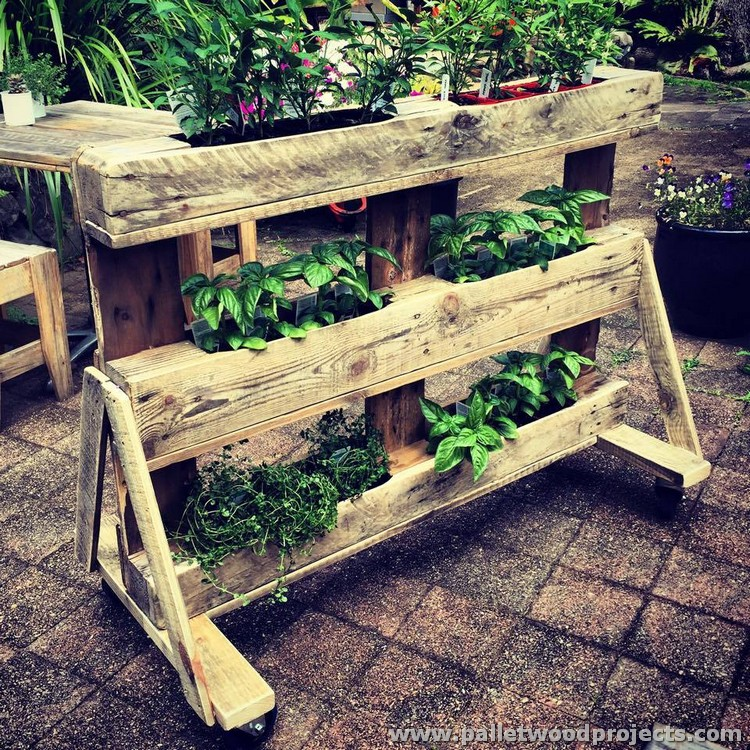 Pallet Rolling Planter