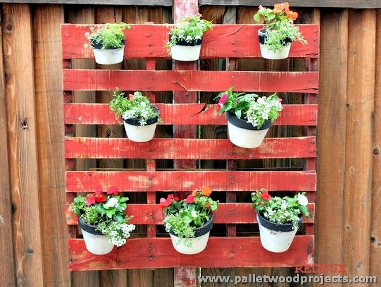 Pallet Wall Hanging Planter