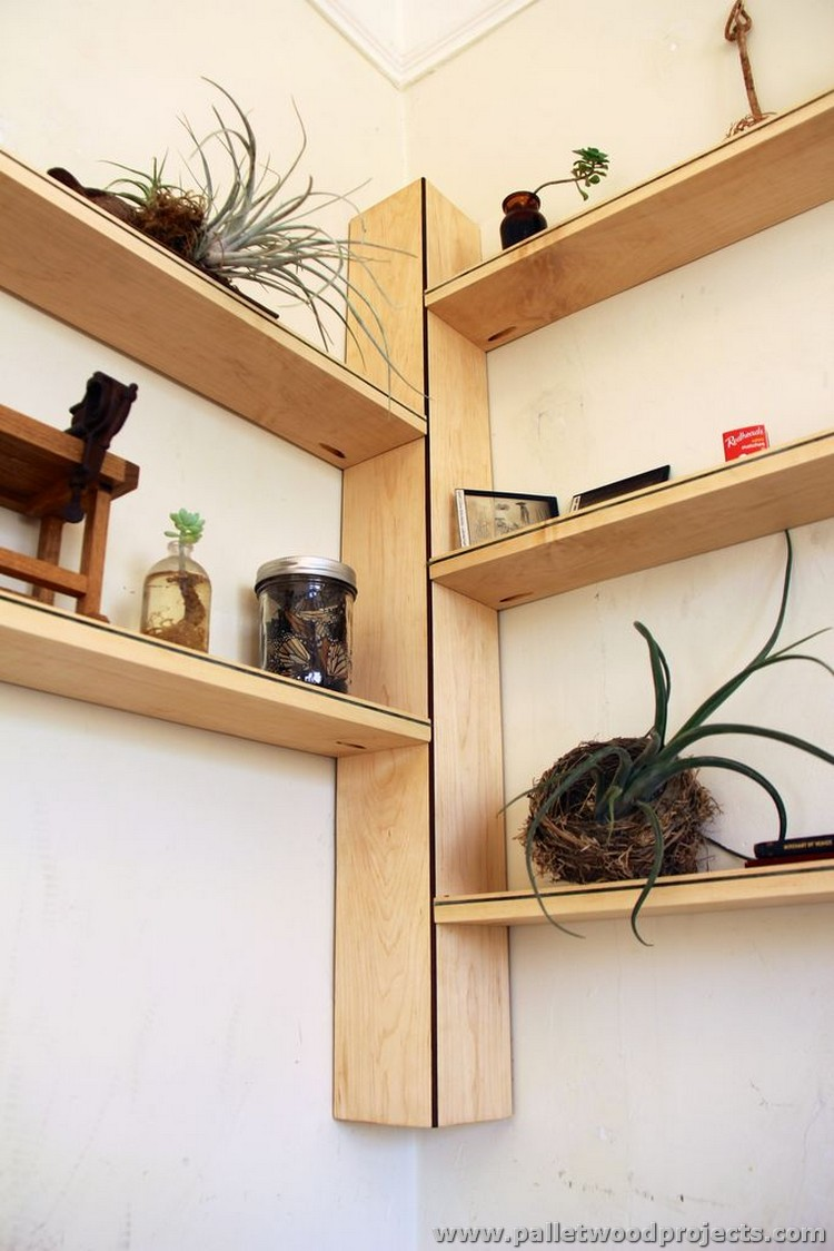 Pallet Corner Shelf Plans | Pallet Wood Projects