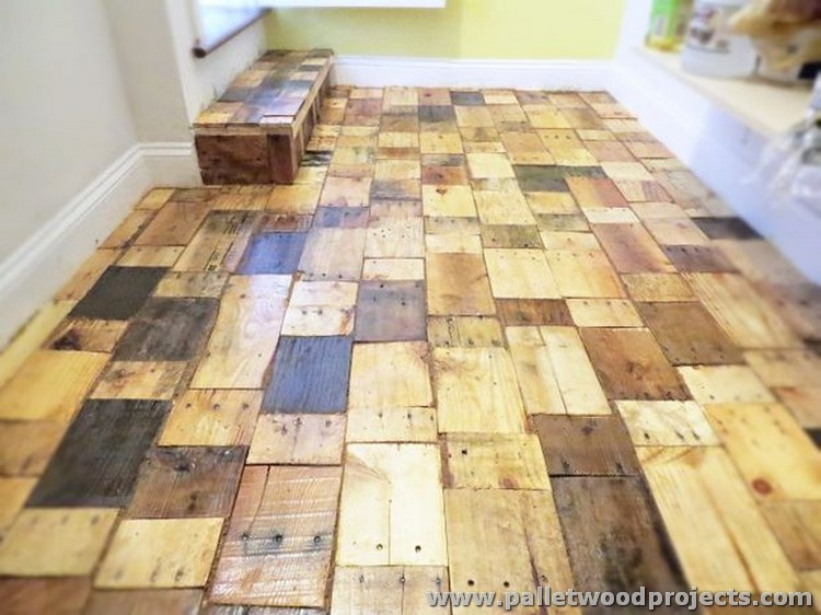 Pallet Wooden Flooring