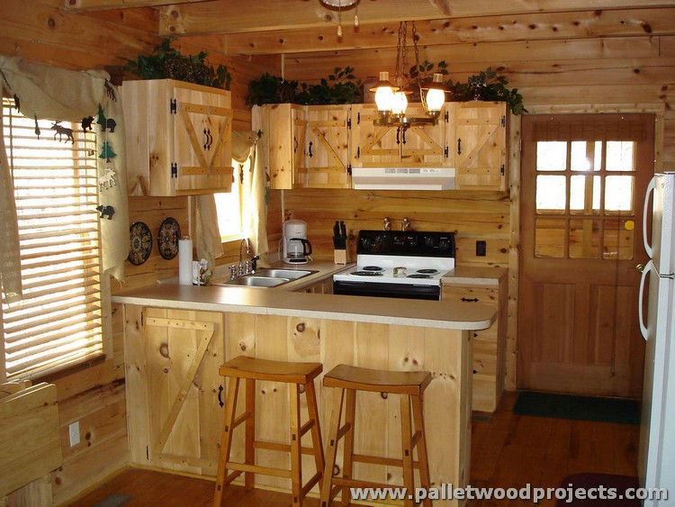 Pallet Wooden Kitchen Cabinets