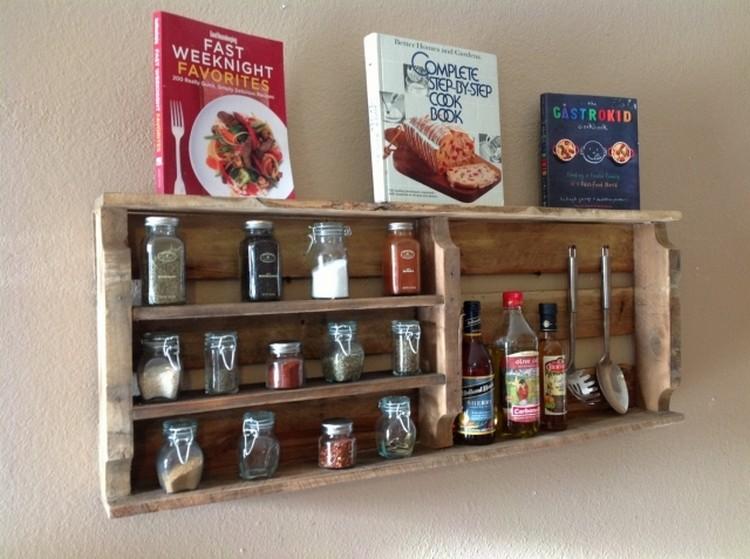Reclaimed Pallet Spice Racks