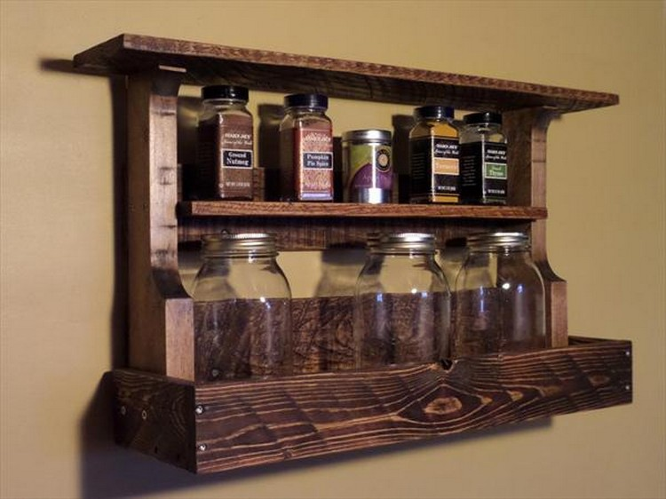 Pallet Spice Rack Ideas | Pallet Wood Projects