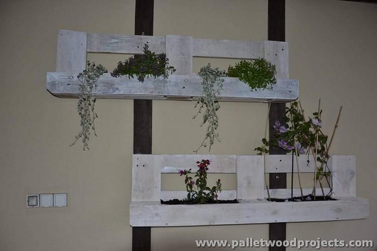 Rustic Pallet Planters