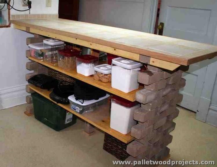 Upcycled Pallet Kitchen Island
