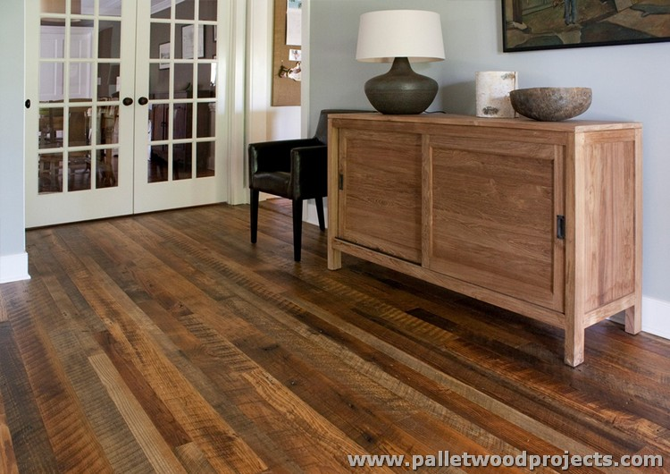 Wood Pallet Flooring Designs