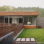 Modern Pallet Fence