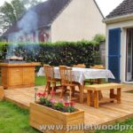 Pallet Deck with BBQ