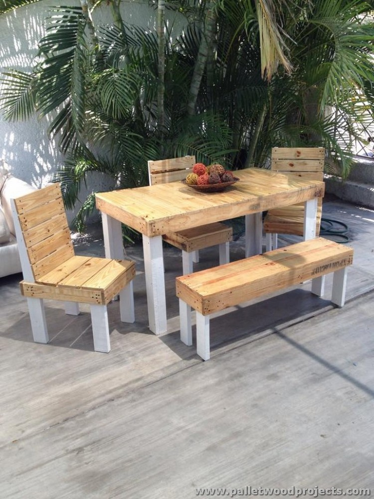 Patio Furniture Made From Wooden Pallets Pallet Wood