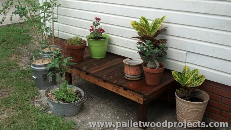 Pallet Plant Stand Plans