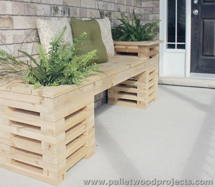 Pallet Plant Stand and Bench