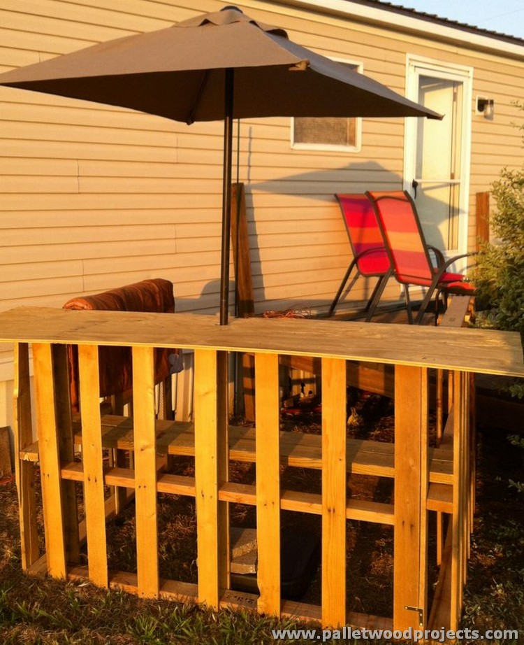 Recycled Pallet Tiki Bar