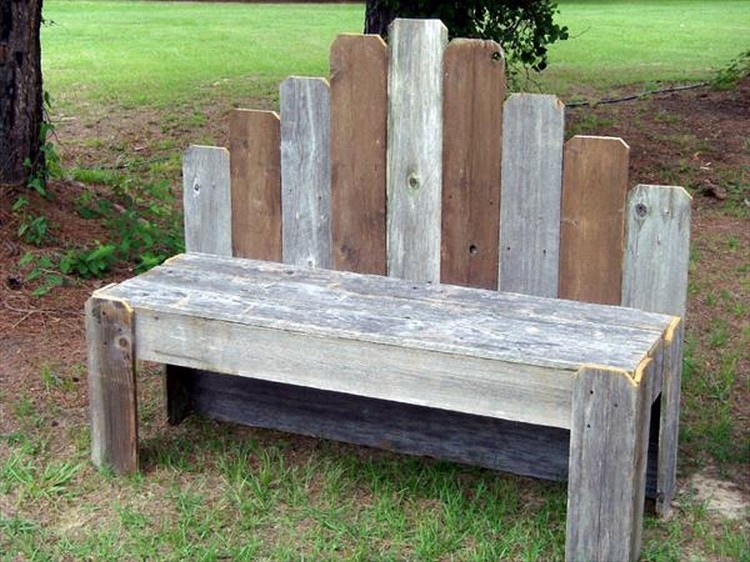 Recycled Wood Pallet Benches Pallet Wood Projects