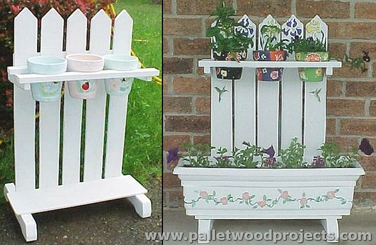 Wood Pallet Plant Stand