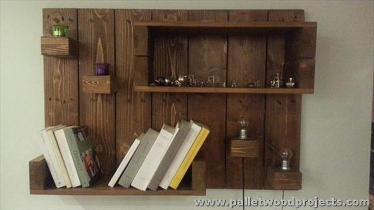 Decorative Pallet Wall Shelves