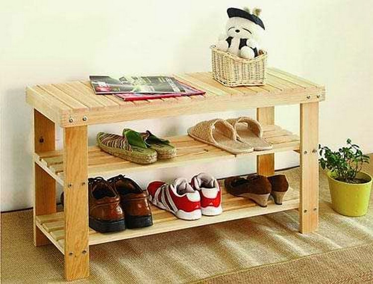 Beautiful ... Wood Pallet Shoe Rack ...
