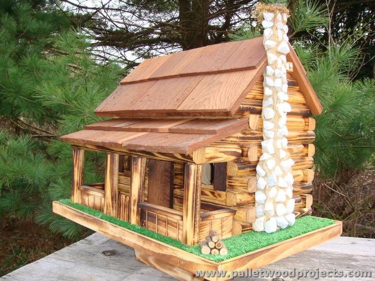 Pallet Birdhouse Plans